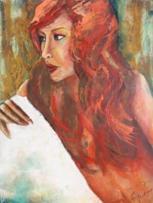 Kaufen Sie jetzt das Bild Rostschopf von Regina Maier in unserem Shop!