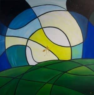 Dieses farbenfrohe Bild wurde von Simon Kohler gemalt